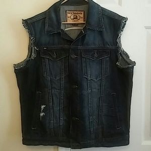 Cult of Individuality Jackets & Blazers - Cult of individuality Distressed Jean Vest.