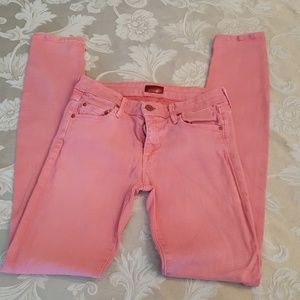 MOTHER Denim - Mother salmon color skinny jeans size 27