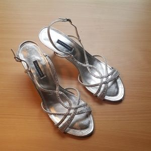Caparros Shoes - Caparros Silver sequined high heeled sandals