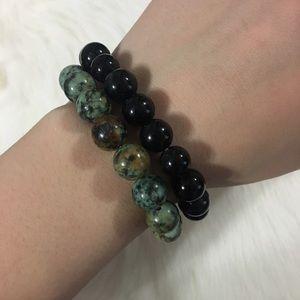Jewelry - 🌺Handmade 2pc natural stone bracelets