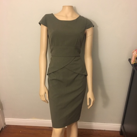 Olive Green Sheath Dress
