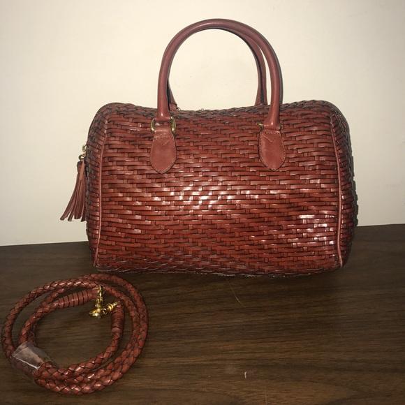 Talbots Woven Leather Bag. M 59135bea981829901f00e7db