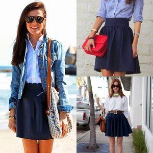 Button navy skirt