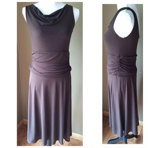 George Dresses & Skirts - Brown Ruched Stretch Sleeveless Dress