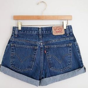 Urban Outfitters Pants - High Waisted Levi's - Medium/Dark Wash