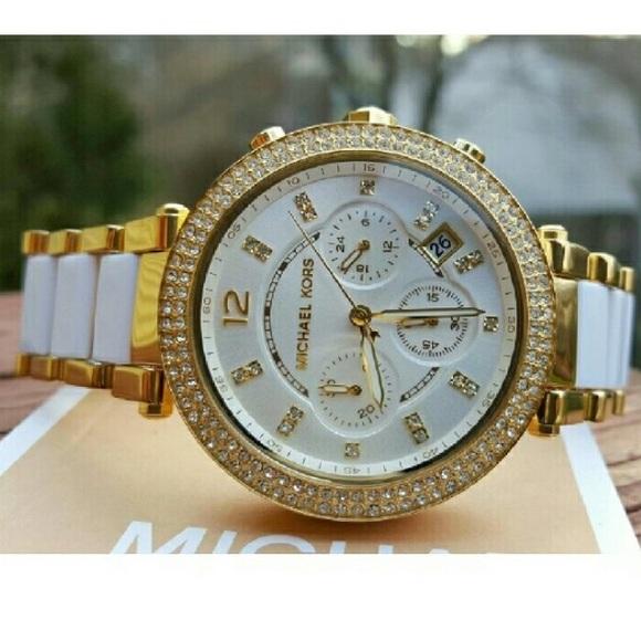 a6639c8b828c New Michael Kors Parker Glam MK Glitz watch MK6119