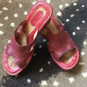 Born Shoes - Red Born wedges.