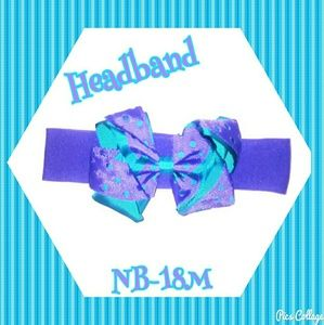 Other - NWOT-Purple Headband with Purple/Blue Bow