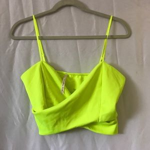 Tops - Neon Green Crop Top