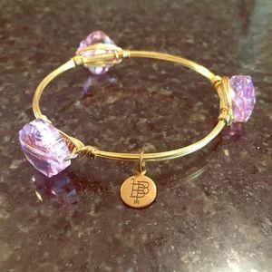 Bourbon and Bowties Jewelry - Bourbon & Boweties Bangle Bracelet Purple Gold