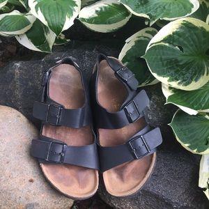 Birkenstock Shoes - Black Birkenstock Milano Sandals