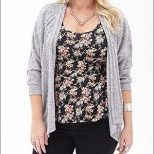 Forever 21 Tops - NEW Forever 21 Plus Size Gray Open Front Cardigan