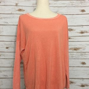Two by Vince Camuto Sweaters - Two by Vince Camuto Coral Handkerchief Sweater