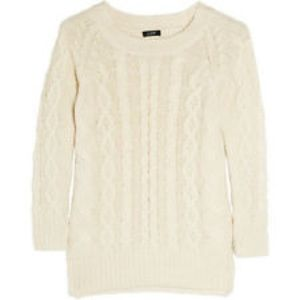 J. Crew Sweaters - J. Crew cable knit cashmere-blend sweater M