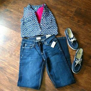 NWT Aero skinny jeans dark wash 3/4 short