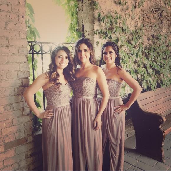 c495640413ed9 David's Bridal Dresses & Skirts - Lace and Mesh Long Strapless Dress  (portobello)