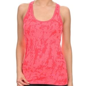 Tops - Coral Athletic Tank