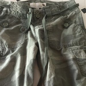 Abercrombie girls camo shorts