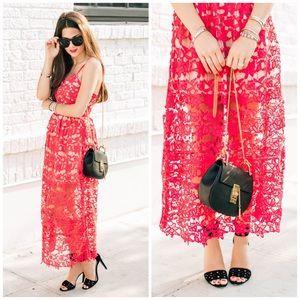 Choies Dresses & Skirts - NWT Crochet Lace Sleeveless Sheer Midi Dress