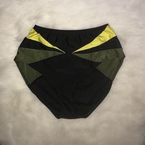 Other - Black High Waist Swim Bottoms