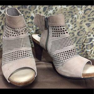 Adam Tucker Shoes - NWOT Perforated suede peep toe sandals