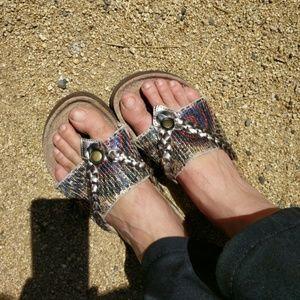 Muk Luks Shoes - Hippie boho Muk Luks sandles 8