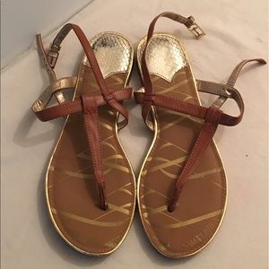 🔥🔥Brown and Gold Sandals