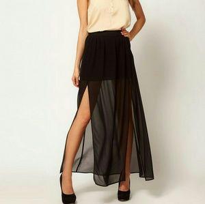 ASOS Maxi Skirt with double split
