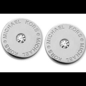Michael Kors silver-tone stud earrings