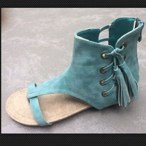 2 Lips Too Shoes - 2 Lips Too Womens Chill Dress Sandal 7.5 M US Teal