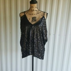 Frederick's of Hollywood Tops - Xl Frederick's of Hollywood slinky sequin club top