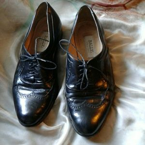 BALLY  Other - VINTAGE BALLY MEN'S BLACK LEATHER WING TIP OXFORDS