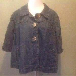 Venezia Jackets & Blazers - Venezia denim swing coat 26/28