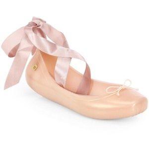Melissa Shoes - Melissa NWT Silk ribbon Ballet Flat