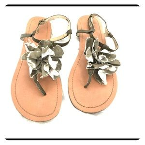Xhilaration sandals with green flower detail