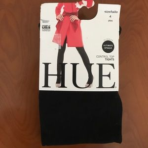 HUE Accessories - Hue control top tights sz 4 plus ultimate opaque