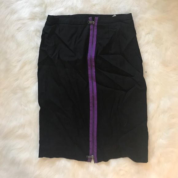 H&M Skirts - H&M Black and Purple Mini Skirt