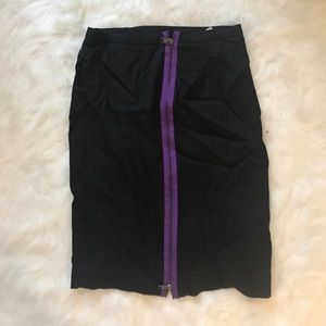 H&M Skirts - H&M Black and Purple Mini Skirt