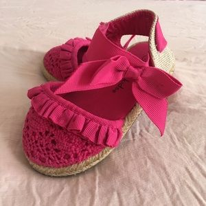Pink Sandals with Bow/Lace/Ruffles