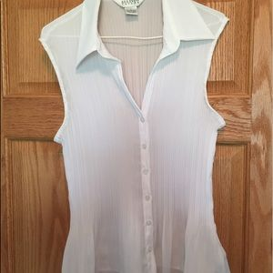 Allison Taylor Tops - Sheer white top, like new