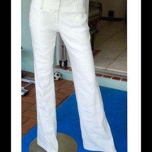 White Wide Leg Linen Pants by DREW-NWT