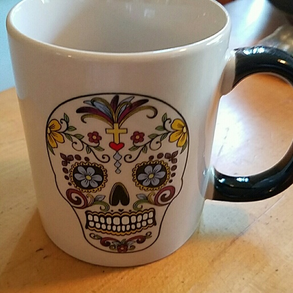 50 off just funky other small sugar skull coffee cup ceramic from alexandra 39 s closet on poshmark - Funky espresso cups ...