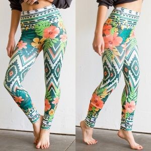 WILA Pants - Topical Print boho leggings