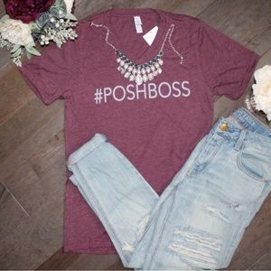 Tops - #POSHBOSS Loose Fit Tee