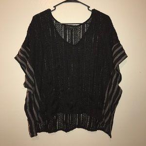 Sanctuary Sweaters - Sanctuary black poncho sweater
