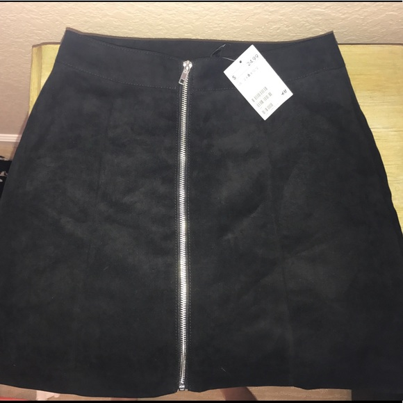 4b81e9358 h & m Skirts | Hm Black Zip Up Skirt | Poshmark