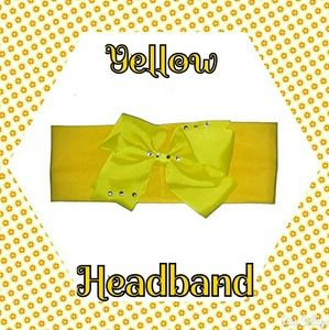 Other - NWT- YELLOW HEADBAND WITH BOW
