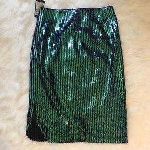 H&M Skirts - H&M Sequin Midi Skirt