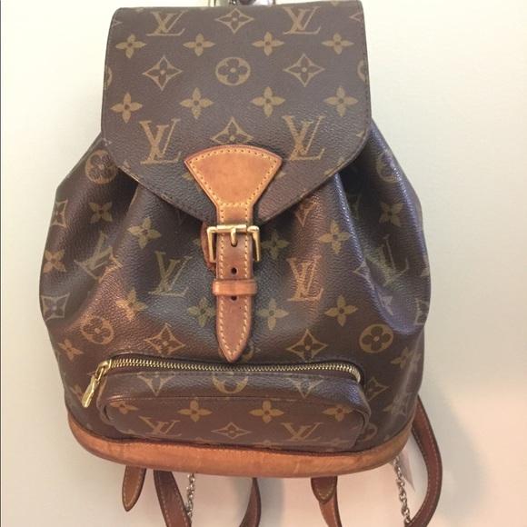 0e80a9ab7117 Louis Vuitton Handbags - Louis Vuitton Women Montsouris Leather Backpack