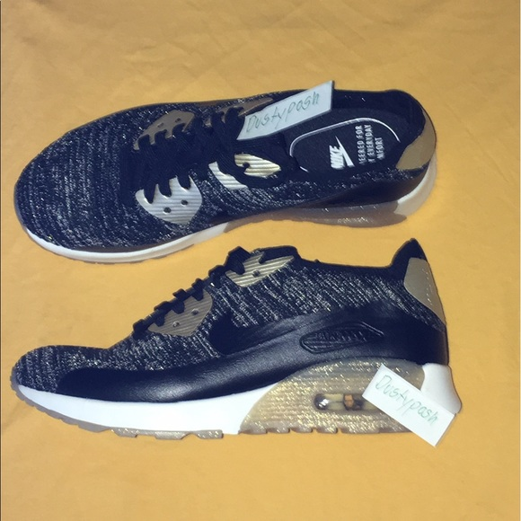 Nike Air Max 90 Ultra BR Sneakers Shoes Black Gold NWT